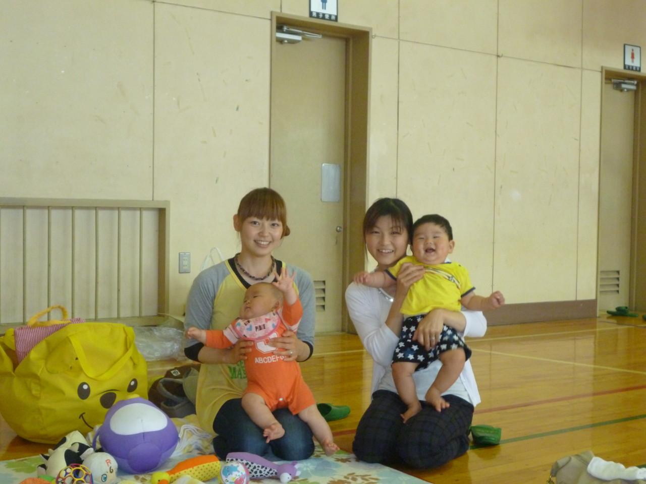 赤ちゃんとママの参加してくれました