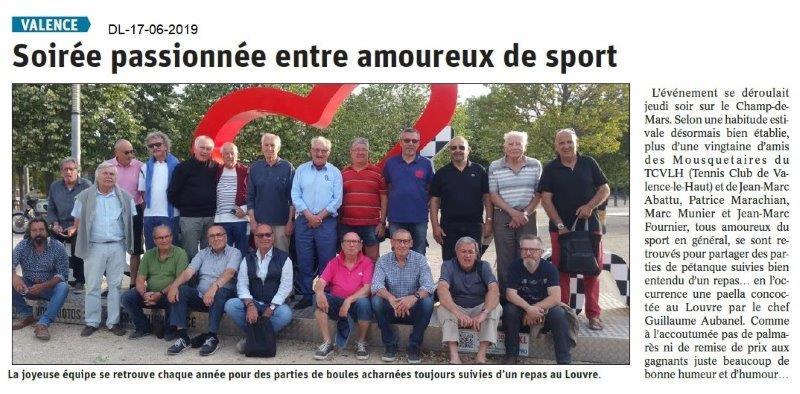 Dauphiné Libéré du 17-06-2019- Tennis Club de Valence.