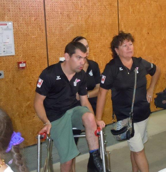 Nicolas, Christine et Fiona du Comité Handisport 07