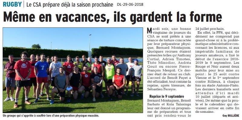 Dauphiné Libéré du 29-06-2018- Sports à Annonay suite