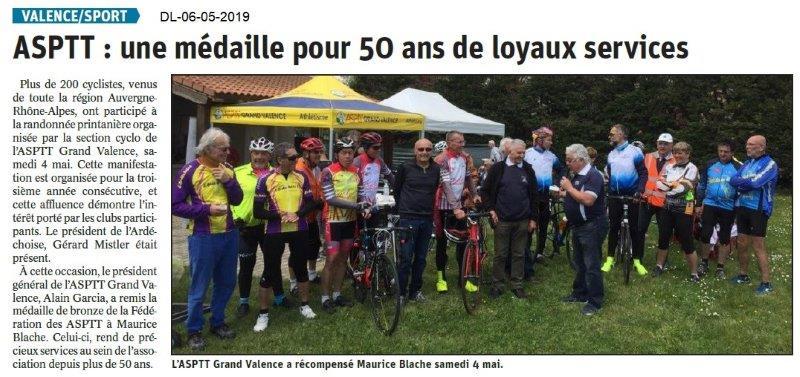 Le Dauphiné Libéré du 06-05-2019- ASPTT Valence