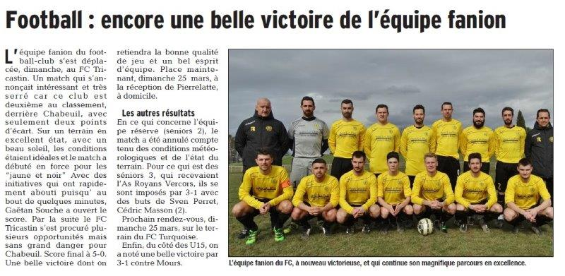 Dauphiné Libéré du 21-03-2018-Foot-Chabeuil