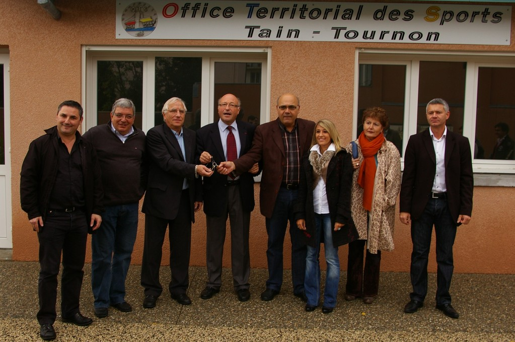 Tain-l'Hermitage inauguration du local de l'OSTT