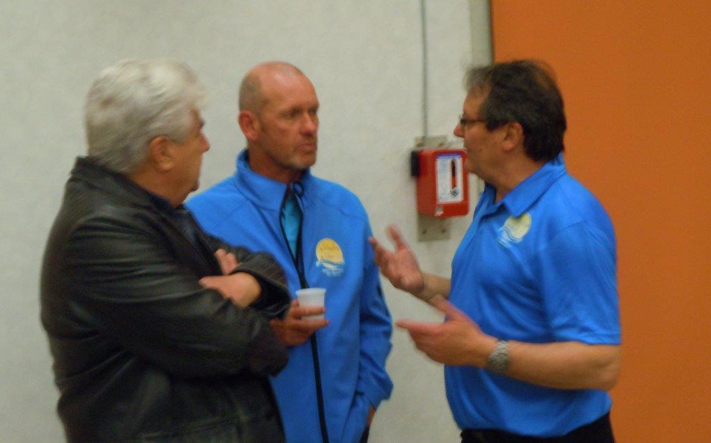 Messieurs OLLIER, MEYER et le président Laurent RAGEAU satisfaits de cette belle journée