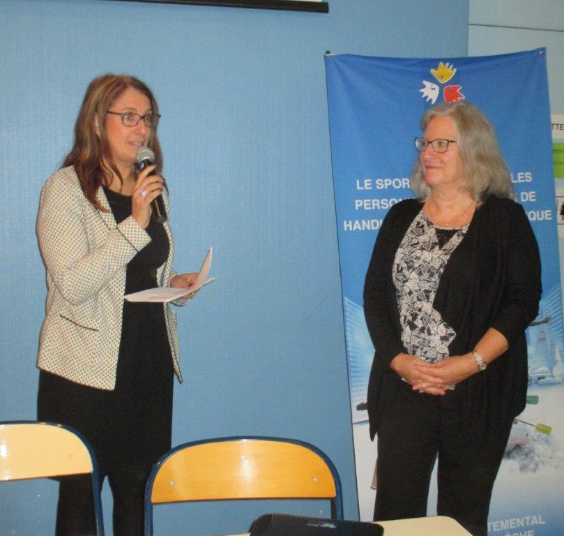 Françoise Chazal Conseillière Départementale clôture Sport et Handicap