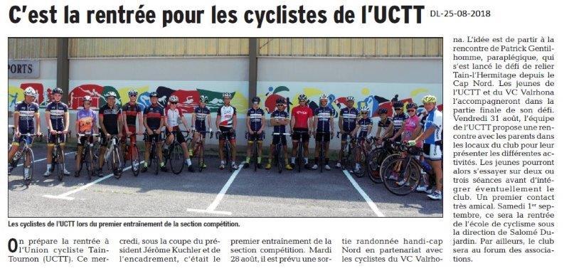 Dauph25-08-2018- Rentrée pour les cyclistes de l'UCTain-Tournoniné Libéré du