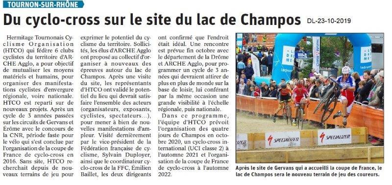 Dauphiné libéré du 23-10-2019- Cyclo cross de Tournon