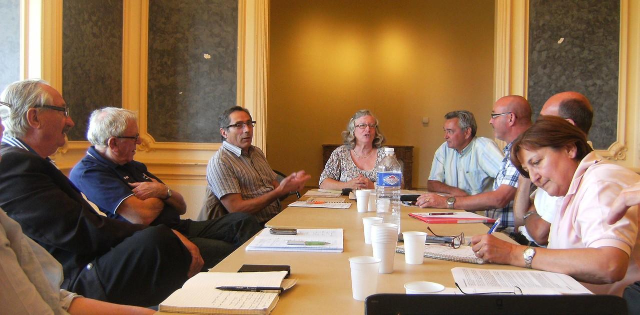 CA-BSA 20120609 Séance de travail avec Lucien Grégoire, Maire et Michel Bonnand, Conseiller délégué aux Sports