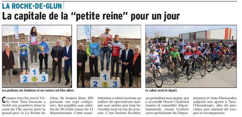 Dauphiné Libéré du 27-03-2018-UGSP GYM récompensé-Portes-lès-Valence