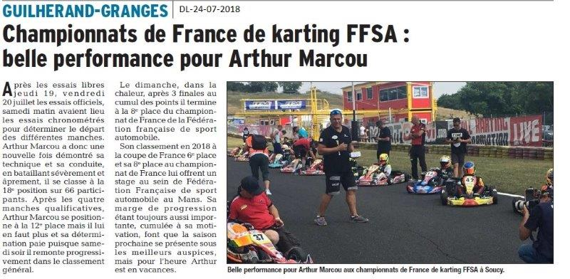 Dauphiné Libéré du 24-07-2018- Championnat de France de Karting