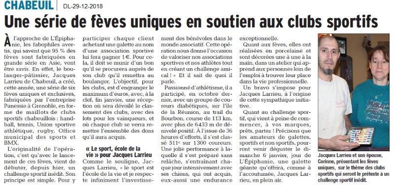 Dauphiné Libéré du 29-12-2018- Chabeuil