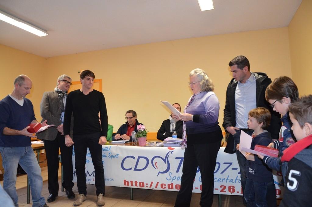 Trophée remis à Sébastien Ponsot