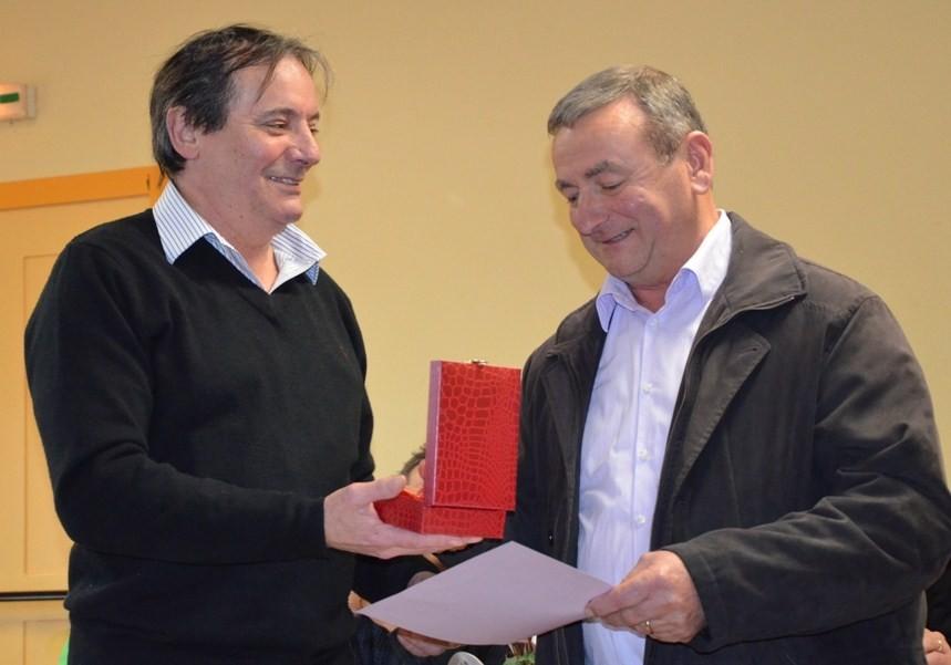 Trophée remis à Pierre Ponsot