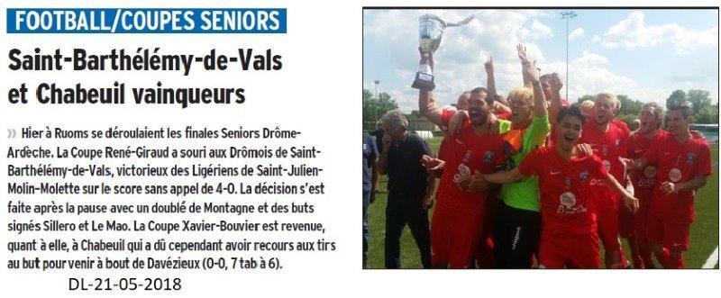 Dauphiné Libéré du 21-05-2018-Rugby- Chabeuil