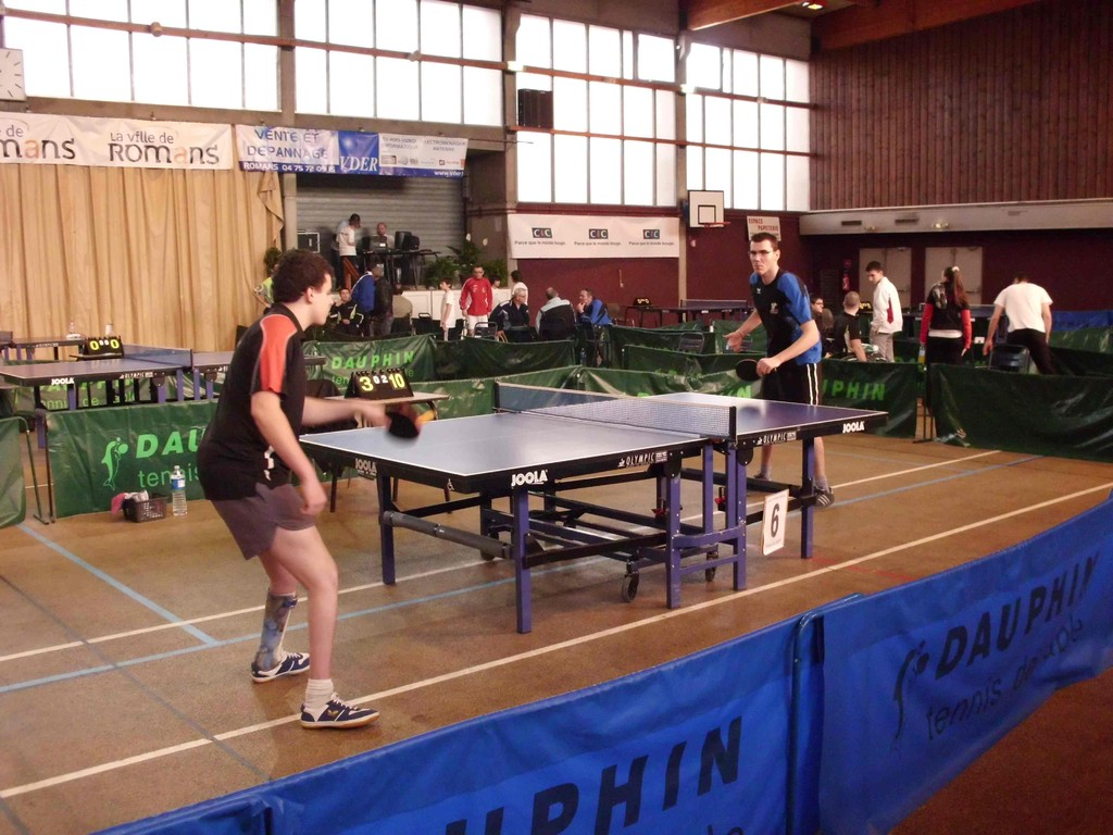 Critérium Handisport de tennis de table à Romans le 12/02/2011