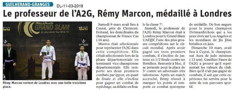 Le Dauphiné Libéré du 11-03-2019- Judo de Guilherand-Granges-