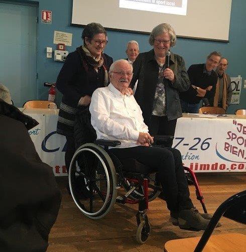 Y.Saint-Clair nomme  Gérard Morel Membre d'Honneur 2018