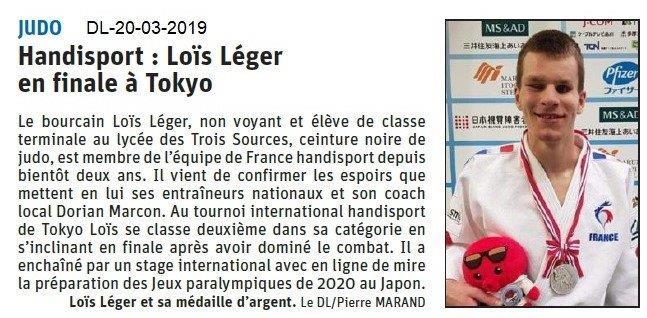 Dauphiné Libéré du 20-03-2019- En route pour les jeux paralympiques