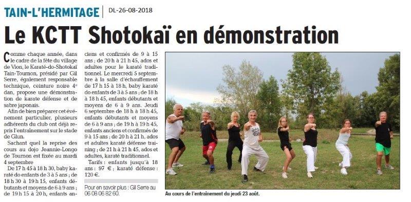 Dauphiné Libéré du 26-08-2018- Base de loisirs de Montélimar