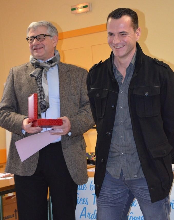 Trophée remis à Yoann Ponsot