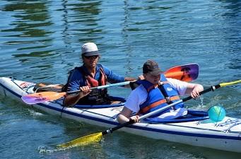 Kayak à l'Epervière.