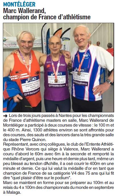 Dauphiné Libéré  du 20-02-2018