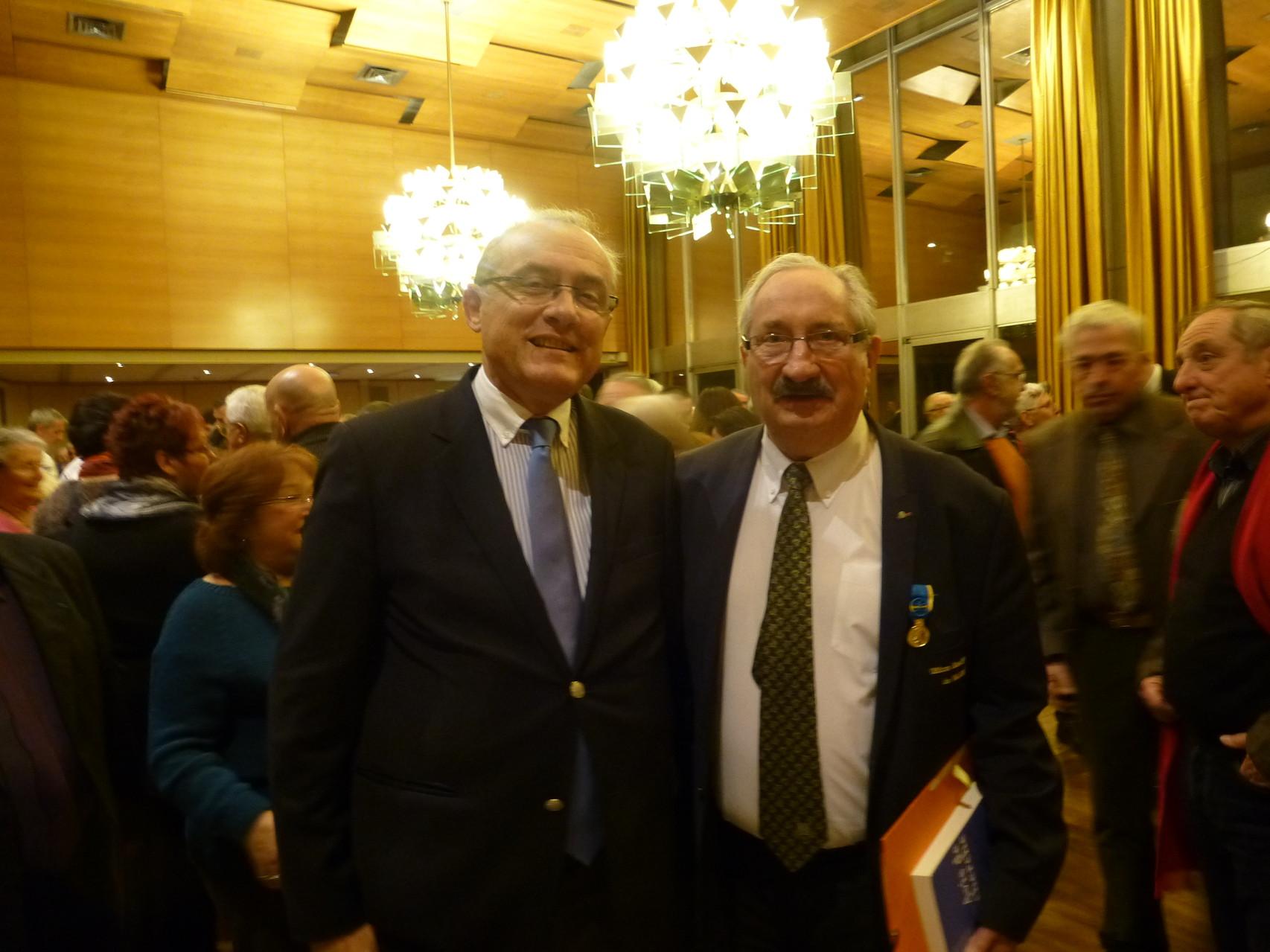 M. D. Lauga Préfet et J.M. Abattu OSV