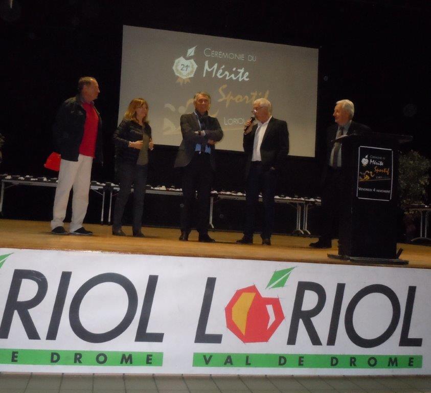 J.Ladegaillerie mis à l'honneur, Présentation de C.Chapuy président de OMLoriolais