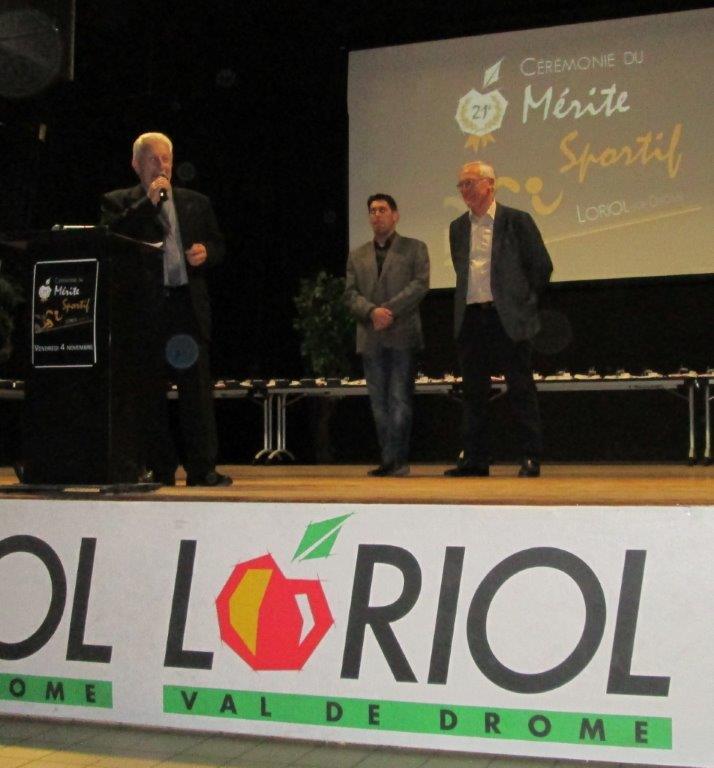 Ouverture du Mérite Sportif par M. le maire C.Aurias, JP.Macak et N.Audemard