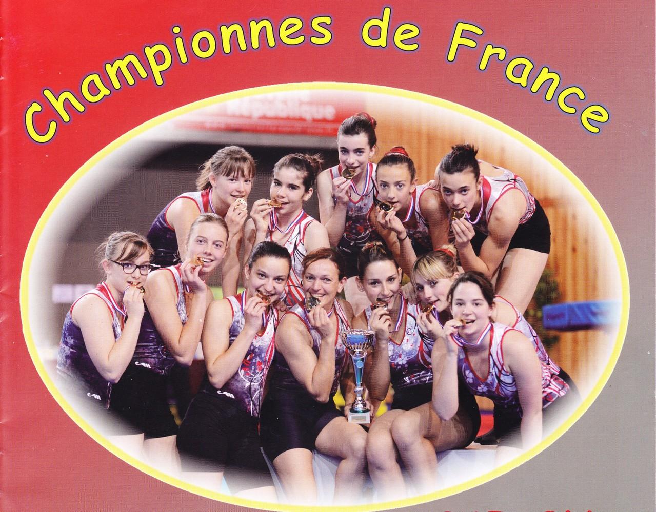 18 mai 2013 Médaille d'or de Team-Gym à Niort équipe féminine UGSP Portes-lès-Valence