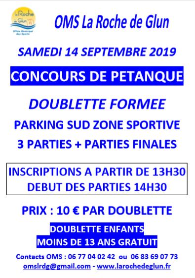 Concours de pétanque à La Roche de Glun