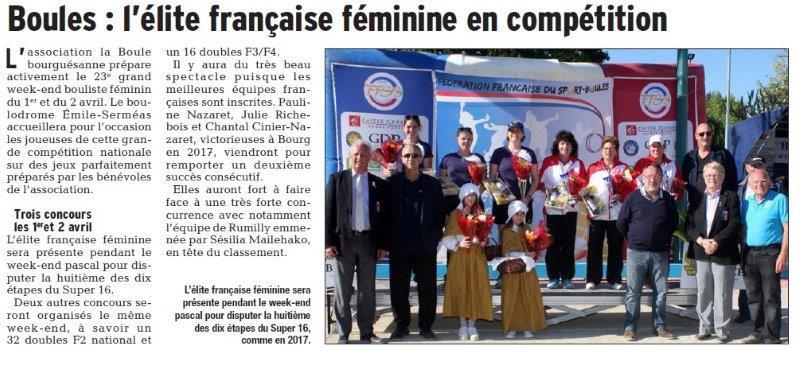 Dauphiné Libéré du 25-03-2018-La Boule Bourguésanne.Bourg Saint-Andéol