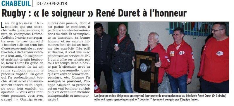 Dauphiné Libéré du 27-04-2018-Rugby Chabeuil