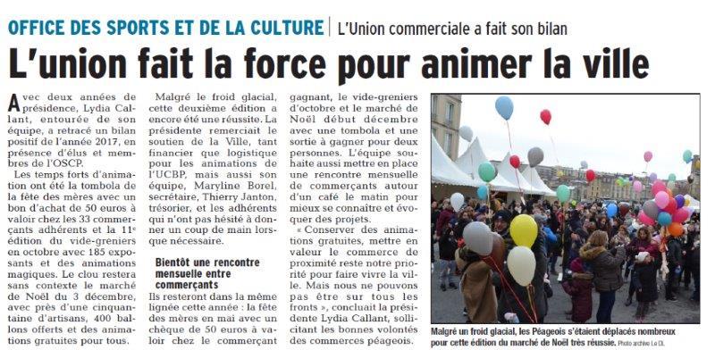 Dauphiné Libéré du 07-03-2018 OSCP Bourg de Péage