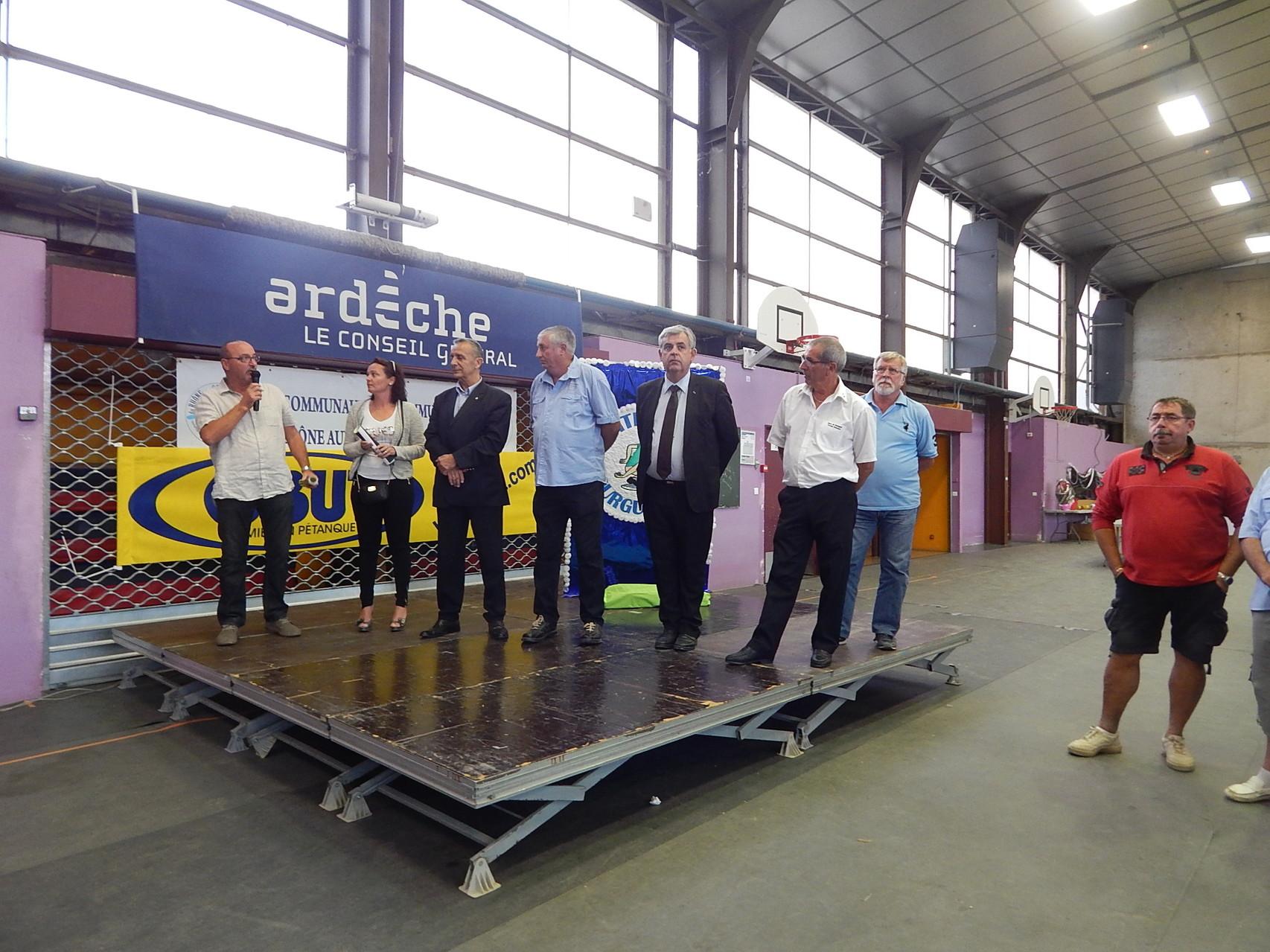 26-09-2014 Jean-Pierre Maubert lors de l'ouverture officielle du 6ième International Petite boule Bourguésanne à Bourg Saint-Andéol.