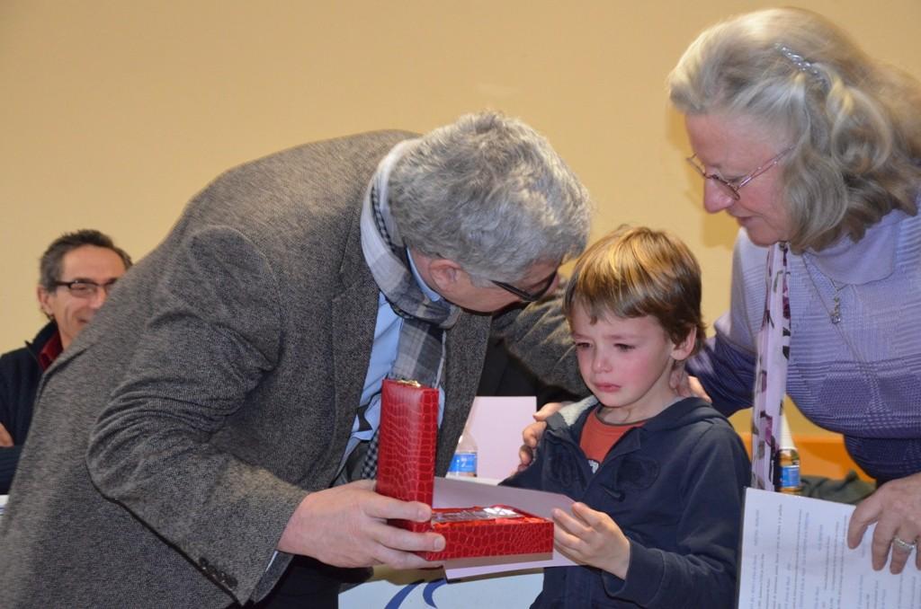 Trophée remis à Martin Ponsot