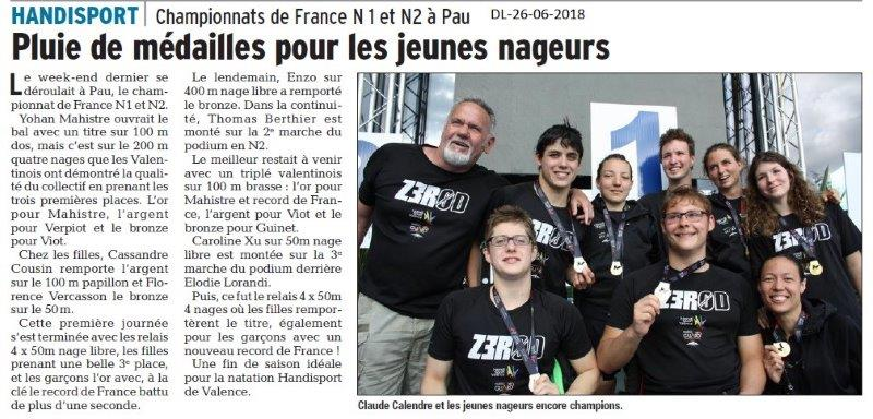 26-06-2016- Natation Handisport  de Valence