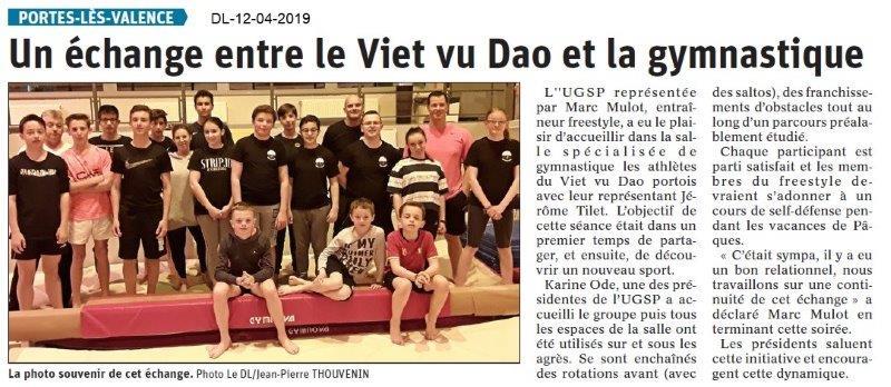 Le Dauphiné Libéré du 12-04-2019- Viet vu Dao PLV