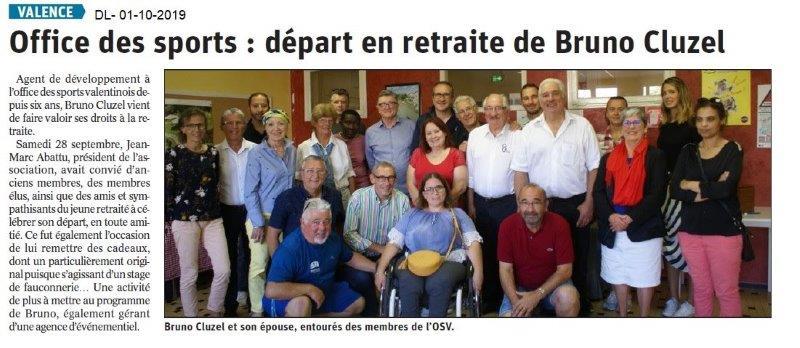 Dauphiné libéré du 01-10-2019- Départ à la retraite à l'OSV