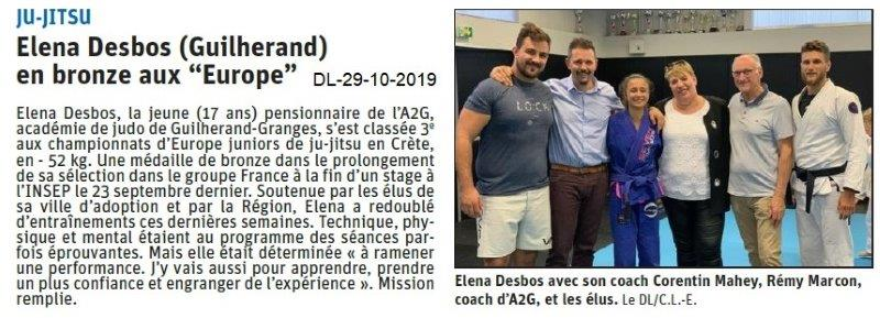 le Dauphiné Libéré du 29-10-2019- Ju-jitsu de Guilherand