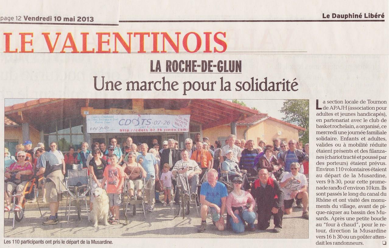 Rando du 5 mai - article presse du dauphiné
