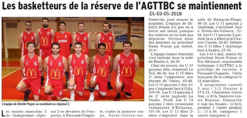 Dauphiné Libéré du 03-05-2018-Basket-Tain-l'Hermitage
