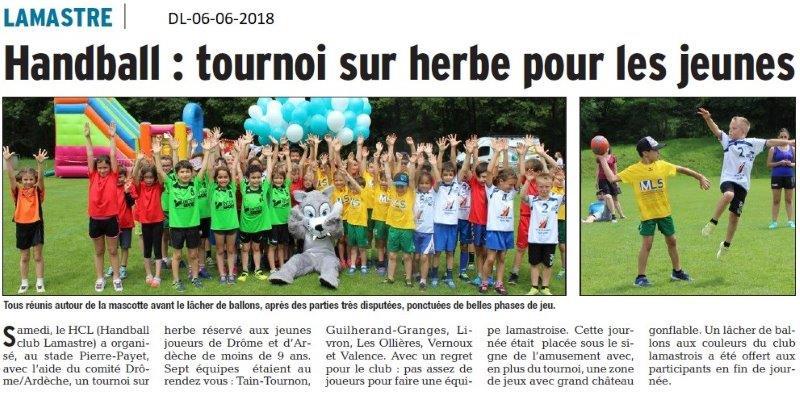 Dauphiné Libéré du 06-06-2018- Handball à Lamastre