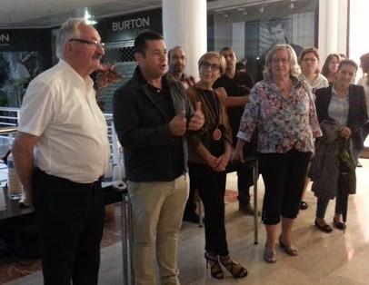 Centre Victor Hugo : Forum associatif avec l'OSV  J.M Abattu président de l'OSV, R. Poutot adjoint aux sports de Valence,  Mme Habert directrice du Centre Victor Hugo  Y. Saint-Clair présidente du CDOTS 07-26
