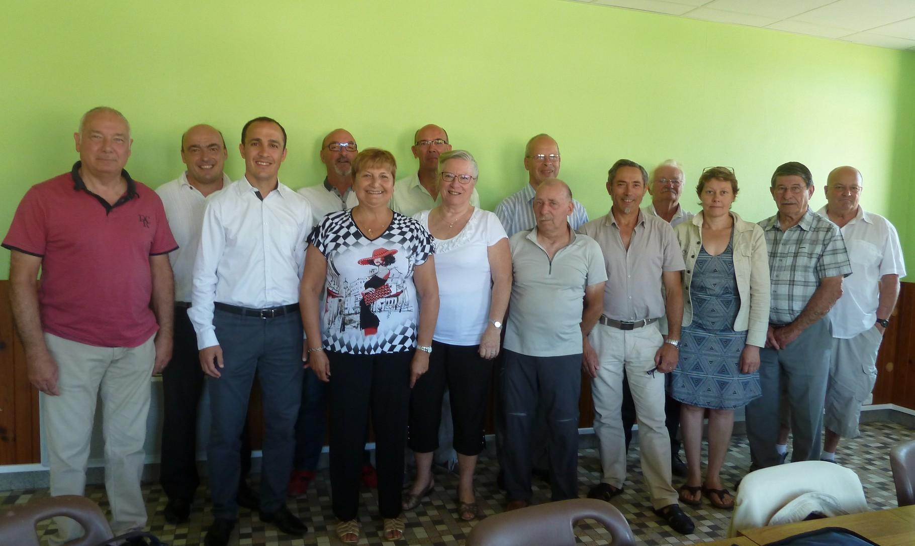 CA à Savasse en compagnie de M. le Maire et les responsables OTS 07-26.