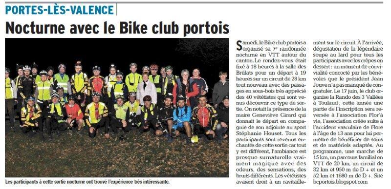 Dauphiné Libéré du 05-03-2018-Bike Club Portois-Portes-les-Valence