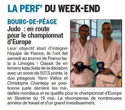 Dauphiné Libéré du 20-03-2018-Judo-Bourg de Péage