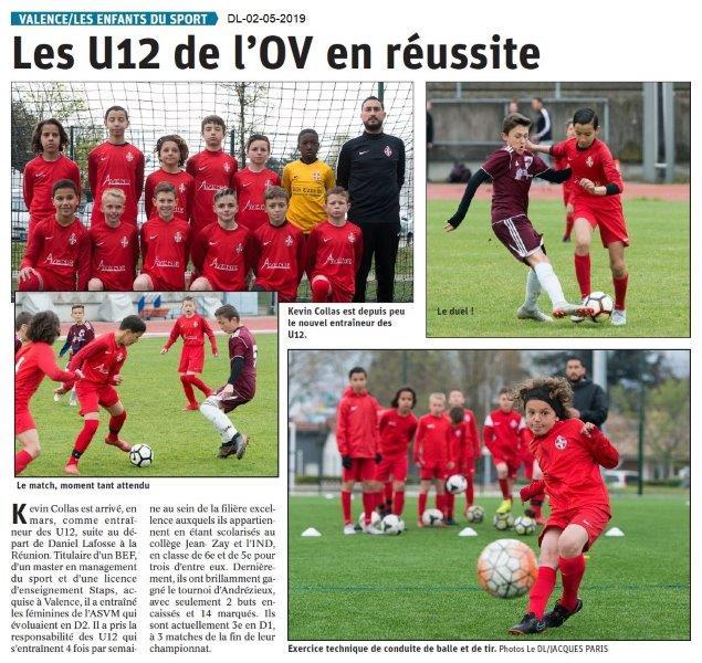 Le Dauphiné Libéré du 02-05-2019- Enfants du sport Valence