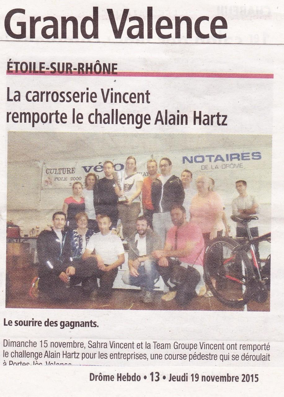 Challenge Alain Hartz- Gagnant Challenge Entreprise 2015