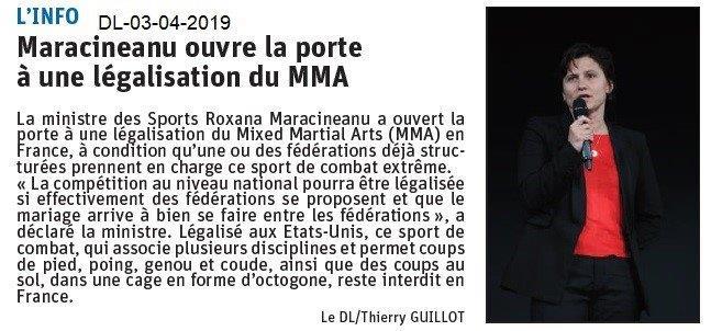 Le Dauphiné Libéré du 03-04-2019- INFOS du ministère des sports